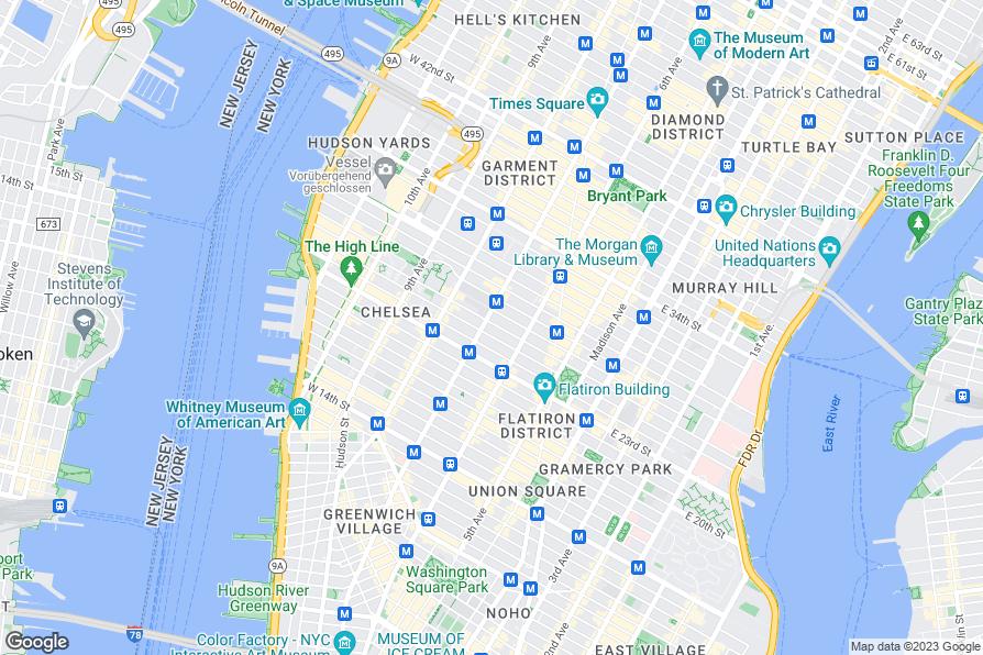 Penn Station New York To Hilton Fashion District