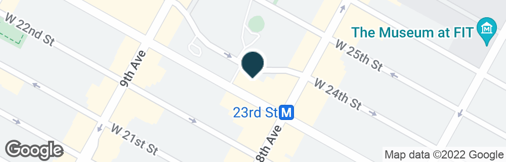 Google Map of315 W 23RD ST