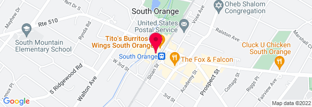 Map for South Orange Performing Arts Center