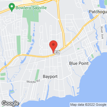 Map of Optimum WiFi Hotspot at 867 Montauk Hwy, Bayport, NY 11705