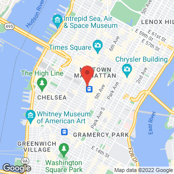 Map of Sprint at 901 Ave Of The Americas, New York, NY 10001