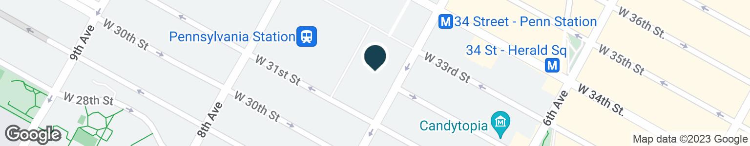 Google Map of2 PENN PLZ