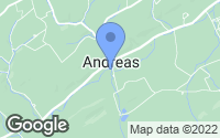 Map of Andreas, PA