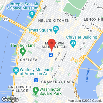 Map of Sunglass Hut at 1313 Broadway & 34th St, New York, NY 10001