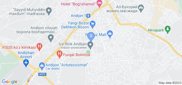 Location of Oltin Vodiy on map