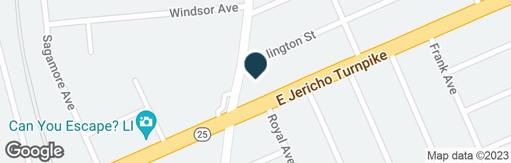 Google Map of12 E JERICHO TPKE