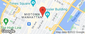Map of 50 E 42nd St Rm 513 in New York