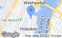 Map of Hoboken, NJ