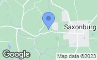 Map of Saxonburg, PA