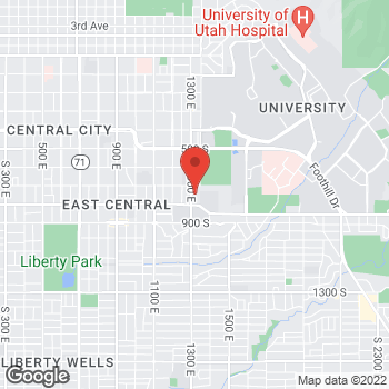 Map of Tamiyah Dinh, NP at 737 S 1300 E, Salt Lake City, UT 84102
