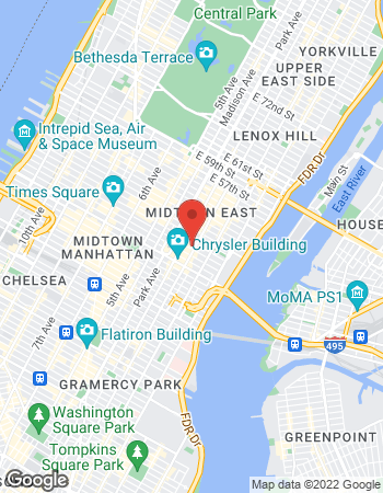 Map of TIAA Financial Services at 730 3rd Avenue, New York, NY 10017