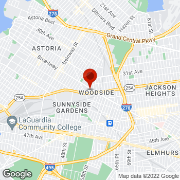Map of Staples® Print & Marketing Services at 51-10 Broadway, Woodside, NY 11377