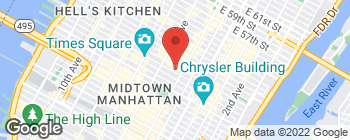 Map of 17 W 45th St in New York