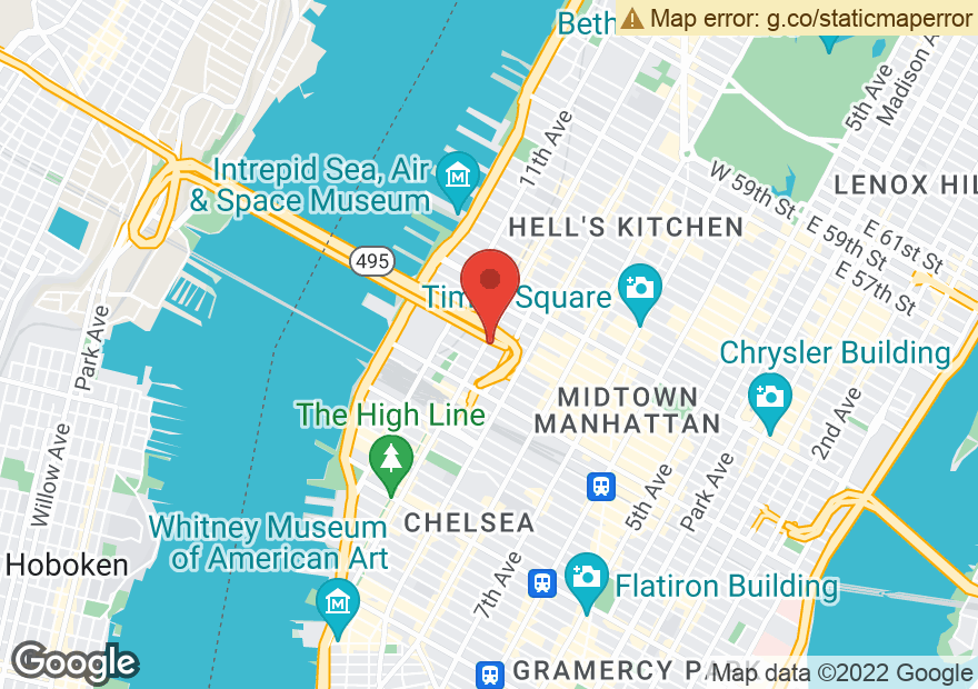 Google Map of 455 W 37TH ST