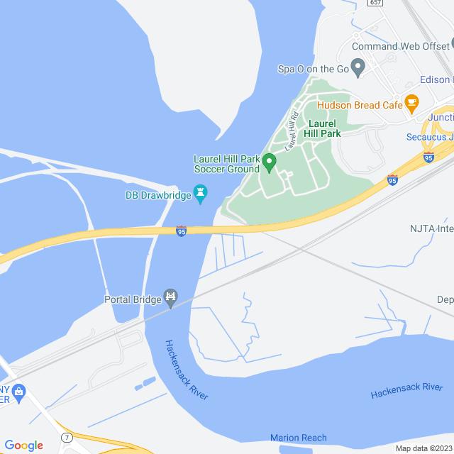 Map of NJ Turnpike