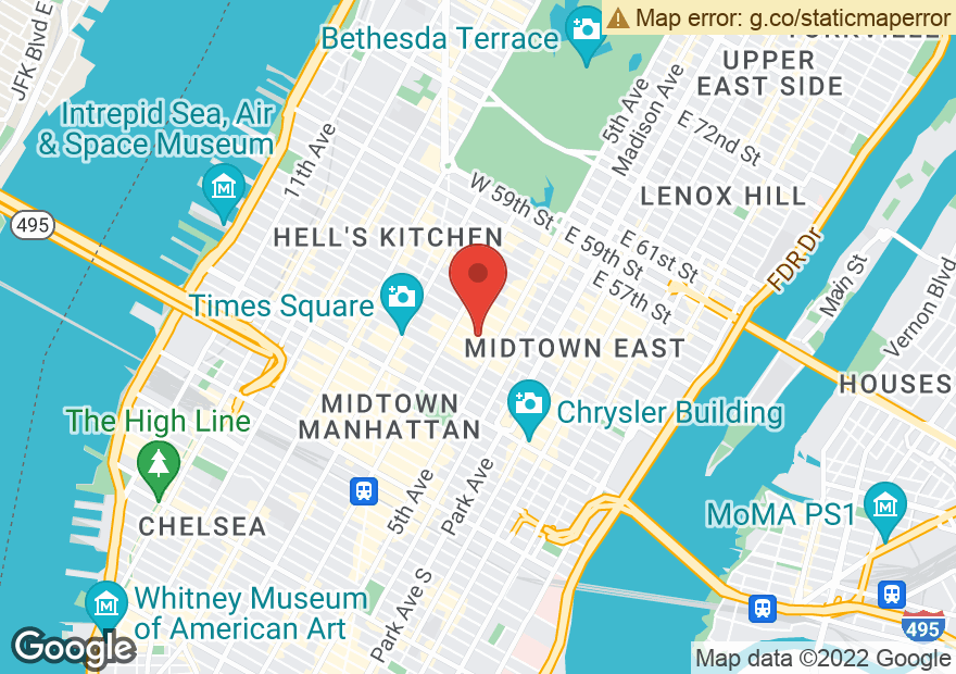 Google Map of 22 W 48TH ST