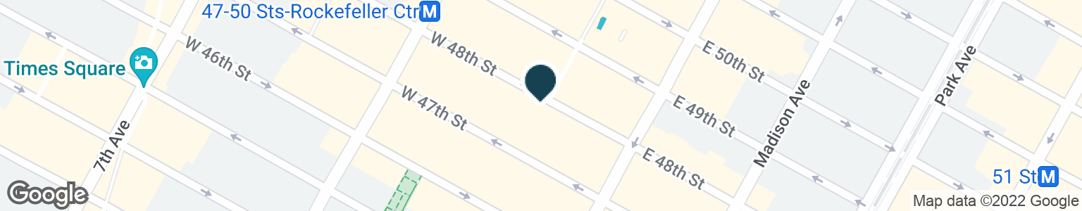 Google Map of22 W 48TH ST