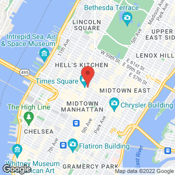 Map of Earl of Sandwich at 1540 Broadway, New York, NY 10036
