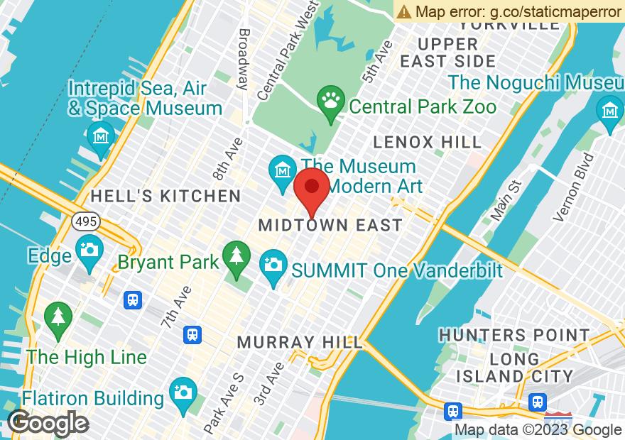Google Map of 49 E 52ND ST