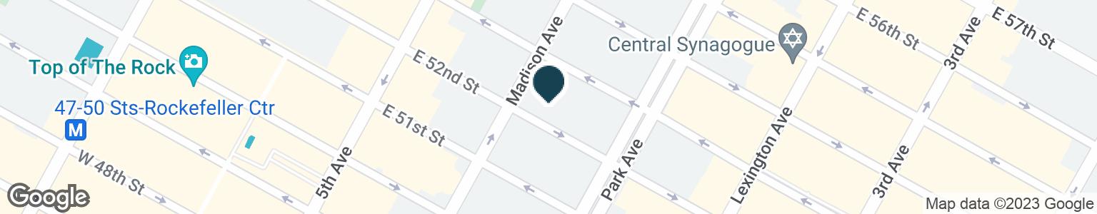Google Map of49 E 52ND ST