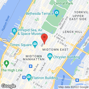 Map of Santander Bank at 1290 Avenue of the Americas, New York, NY 10019
