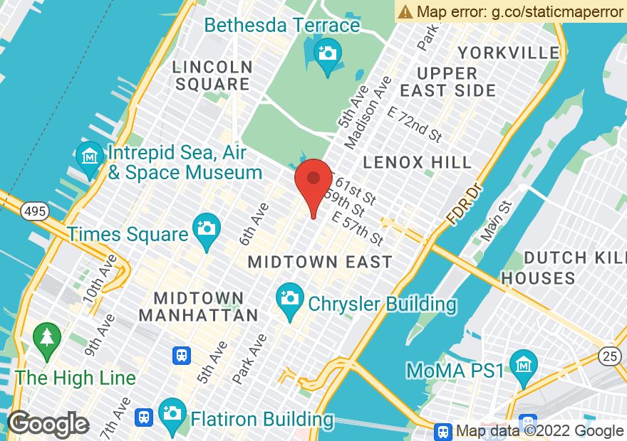 Google Map of 55 E 55TH ST