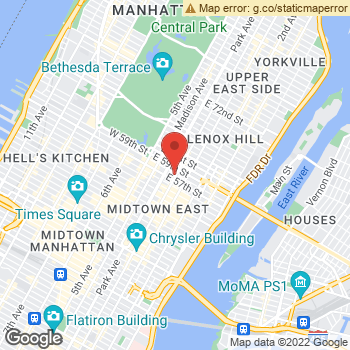 Map of Aerie Store at 720 Lexington Ave, New York, NY 10022