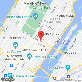 Map of Salvatore Ferragamo Women's Accessories at 1000 Third Avenue, New York, NY 10022