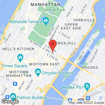 Map of BCBGMAXAZRIA at Bloomingdales at 1000 Third Ave, New York, NY 10022