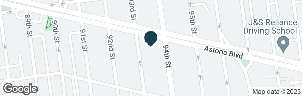 Google Map of9312 ASTORIA BLVD