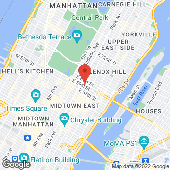 Map of Charlotte Tilbury - Sephora 60th & Lexington at 750 Lexington Avenue, New York, NY 10022