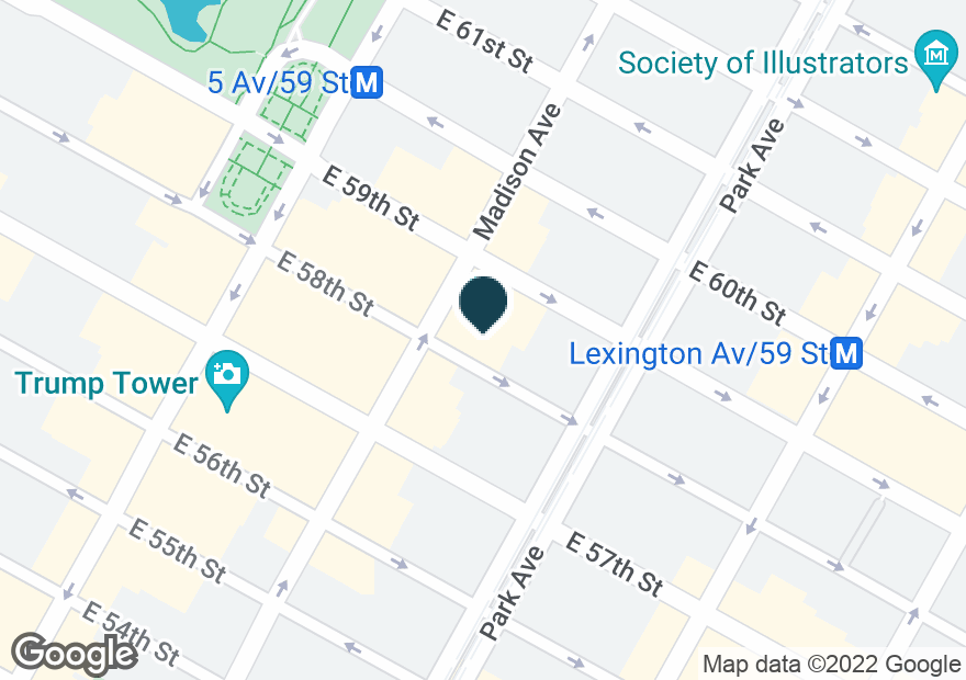 Google Map of41 E 58TH ST
