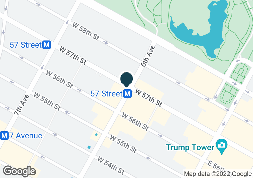 Google Map of100 W 57TH ST