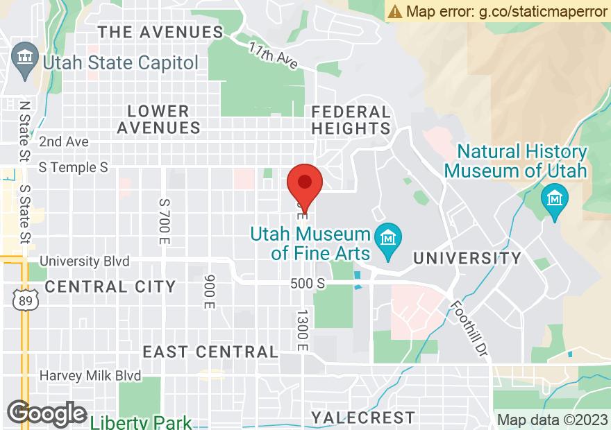 Google Map of 201 S 1300 E