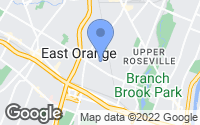 Map of East Orange, NJ
