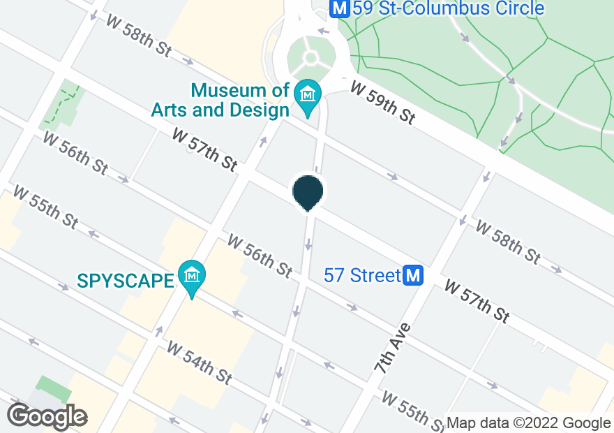 Google Map of250 W 57TH ST