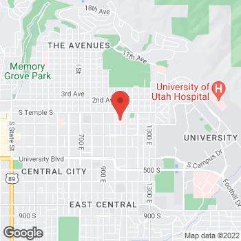 Map of Ryan Bair, MD at 1050 E South Temple, Salt Lake City, UT 84102