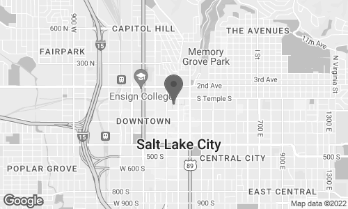 Map of 50 South Main Street in Salt Lake City