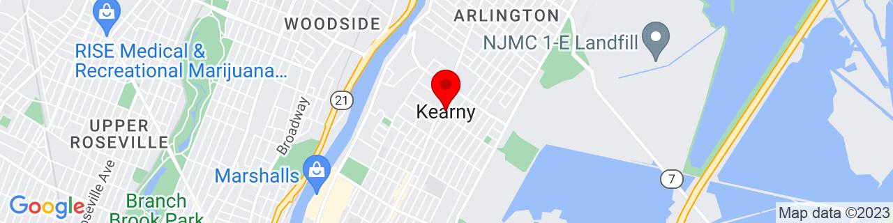 Google Map of 40.7684342, -74.1454214