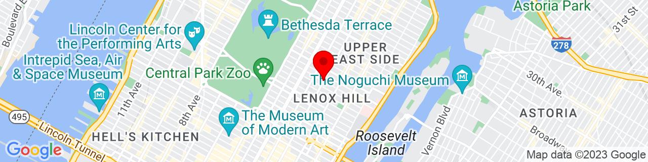 Google Map of 40.7684404, -73.9615733