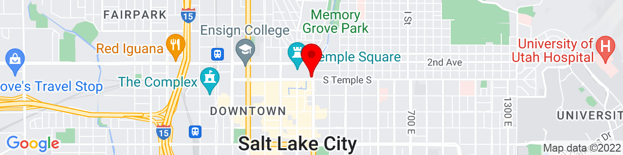 Google Map of 40.7696259, -111.8885545