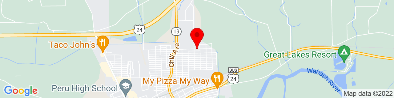Google Map of 40.77009899999999, -86.05296039999999