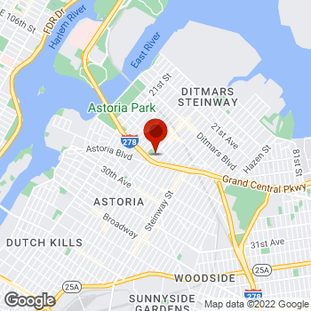 Map of Staples® Print & Marketing Services at 24-41 31st Street, Astoria, NY 11102