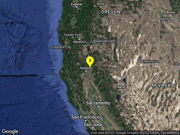earthquake 13km WSW of Round Mountain, CA
