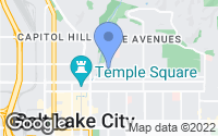Map of Salt Lake City, UT