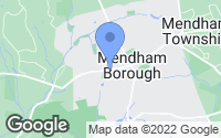 Map of Mendham, NJ