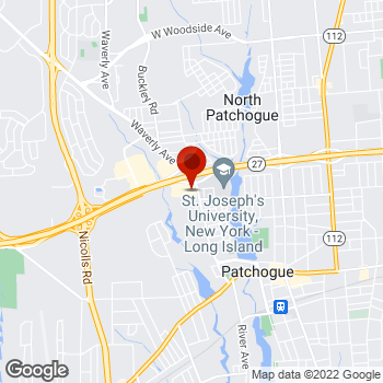 Map of Staples® Print & Marketing Services at 380 Sunrise Highway, Patchogue, NY 11772