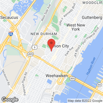 Map of Optimum WiFi Hotspot at 3908 Kennedy Blvd, Union City, NJ 07087