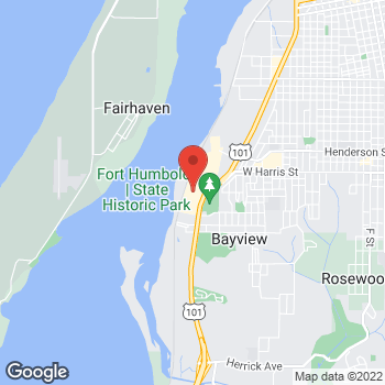 Map of Staples at 3300 Broadway St, Eureka, CA 95501