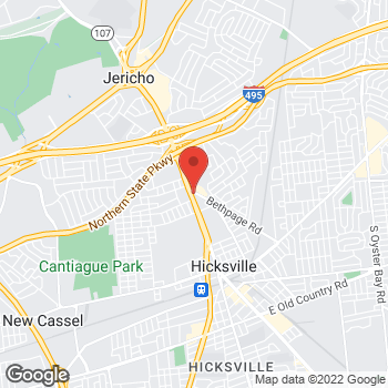 Map of Optimum WiFi Hotspot at 287 N Broadway, Hicksville, NY 11801